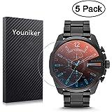 Youniker - Pellicola protettiva per orologio da uomo Diesel DZ4318,trasparenza ad alta definizione, antigraffio, anti-impron