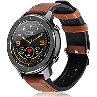 """Fullmosa F12 Smartwatch für ios Android, 1.3"""" Full-Touchscreen Sportuhren für Damen Herren,Fitness Armbanduhr, IP68 Wasserdicht Uhr mit Aktivitätstracker,Herzfrequenz-Blutdruck-SoP2-Monitor"""