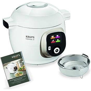 Krups cz7101Multicuiseur cook4me Plus, 4l, 1200W, Blanc/Gris