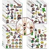 Mario Tijdelijke tatoeages Stickers Super Mario Feestartikelen Princess Peach Yoshi Cartoon Stickers voor meisjes Jongens Kin