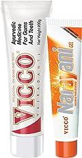 Vicco Vajradanti Tooth Paste-200g+Vicco Narayani Gel-30g