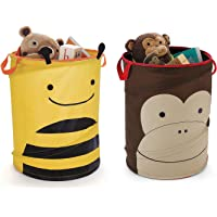Kurtzy Multipurpose Foldable and Collapsible Laundry Bags (Pack of 2 - Yellow and Brown)