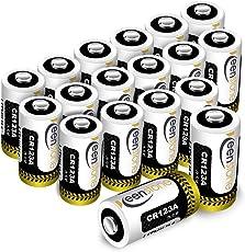 18 St. CR123A CR17345 Batterien, Keenstone 3V 1400 mAh Lithium Einwegbatterie für Taschenlampe, Kamera, Intelligente Instrumentierung, Mikrofone usw. [Nicht wiederaufladbar]