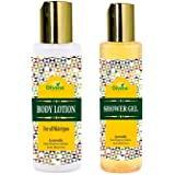 Divine India Body Lotion for all skin types Ayurvedic oil,200ml And Divine India Shower Gel, 200ml