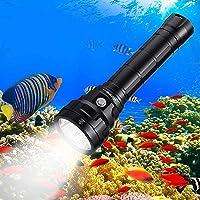 Wurkkos Torcia Subacquea da 5000 Lumen per Immersione,90 Elevato CRI Torcia Impermeabile IPX8, 4 * Samsung LH351D LED…