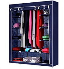 "House of Quirk 70"" Portable Clothes Closet Home Wardrobe Clothes Storage Organizer with 12 Shelves"