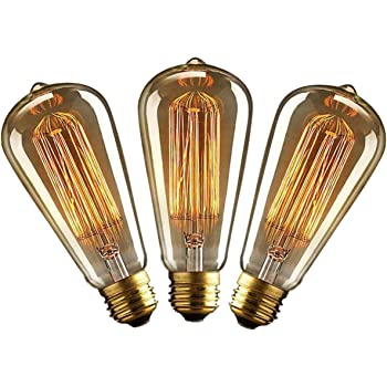 Garten & Terrasse 6 Stück Edison Vintage Glühbirne,led Lampe Warmweiß E27 Retro Antike Außenstrahler & Flutlichter