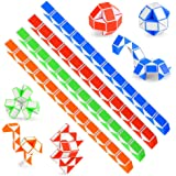 O-Kinee 12 Pack 24 Blocchi Magic Snake Cube, Mini Speed Cubes, Snake Twist Puzzle Toys for Kids Party Bag Fillers, Bombonie