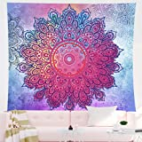 Tapiz de mandala indio para colgar en la pared tapiz psicodélico bohemio colorido tapiz hippie misterioso y estético para dor
