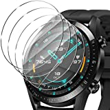 ELYCO [4-pack] för HUAWEI Watch GT 2 46 mm skärmskydd i härdat glas, [Transparent] repskydd, anti-olja/dammskydd 9H hårdhet H