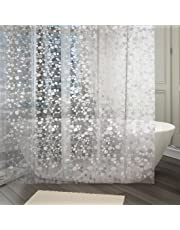 Kuber Industries PVC Shower Curtain Set