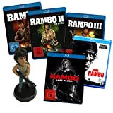 Rambo 1 - 5 Blu-ray Bundle + Rambo Figur [Blu-ray]