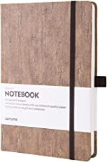 Bullet Journal/Notizbuch Dotted - Umweltfreundliches Naturkork Hardcover Dot Grid Notebook mit Stiftschlaufe - Premium Dickes Papier, Bound Dotted Notebook - A5 (5x8In)