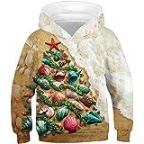 Chaos World Felpe con Cappuccio Christmas Bambino 3D Print Felpa Pullover Hoodie Natale