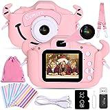 Faburo Bambini Fotocamera Digitale con Scheda SD 32 GB, Macchina Fotocamera Bambini Portatile Selfie Macchina Digital Dual Le