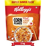 Kellogg's Corn Flakes Real Almond Honey , Breakfast Cereals , High in Vitamin B1, B2, B3, B6 & C, High in Iron , Naturally Ch