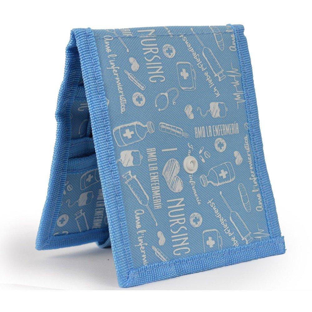Keens Bata o Pijama Mobiclinic Organizador Auxiliar de enfermer/ía Dise/ño Exclusivo con Estampados en Color Azul Amo la enfermer/ía