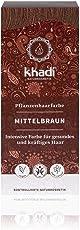 khadi Pflanzenhaarfarbe Mittelbraun 100g I vegane Haarfarbe aus Indien I Naturkosmetik 100% pflanzlich
