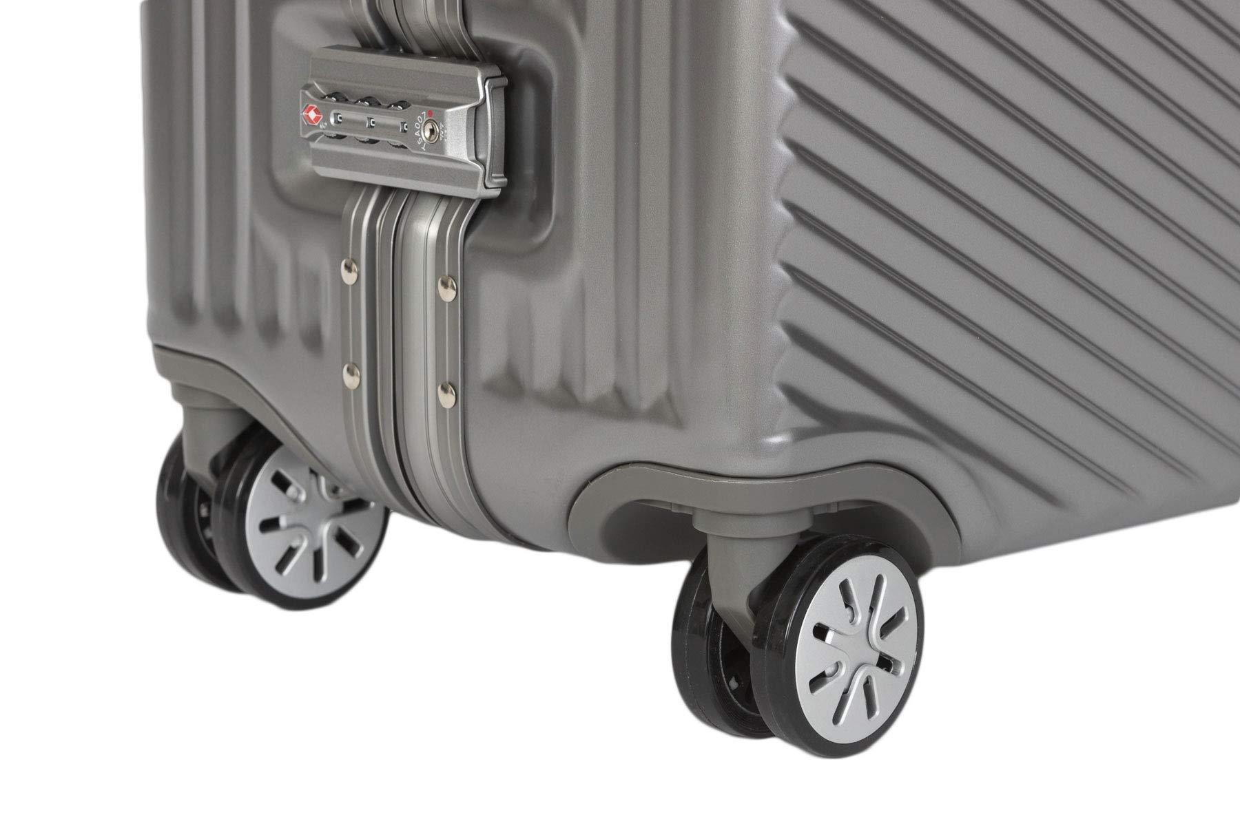 Travelhouse-Roma-Koffer–Aluminiumrahmen-und-Polykarbonat-Hartschale-Reisegepck-Reisetrolley-Trolley-Reisekoffer
