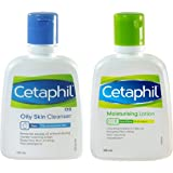 Cetaphil Moisturizing Lotion Plus OS Cleanser for Oily Skin (100 & 125 ml)