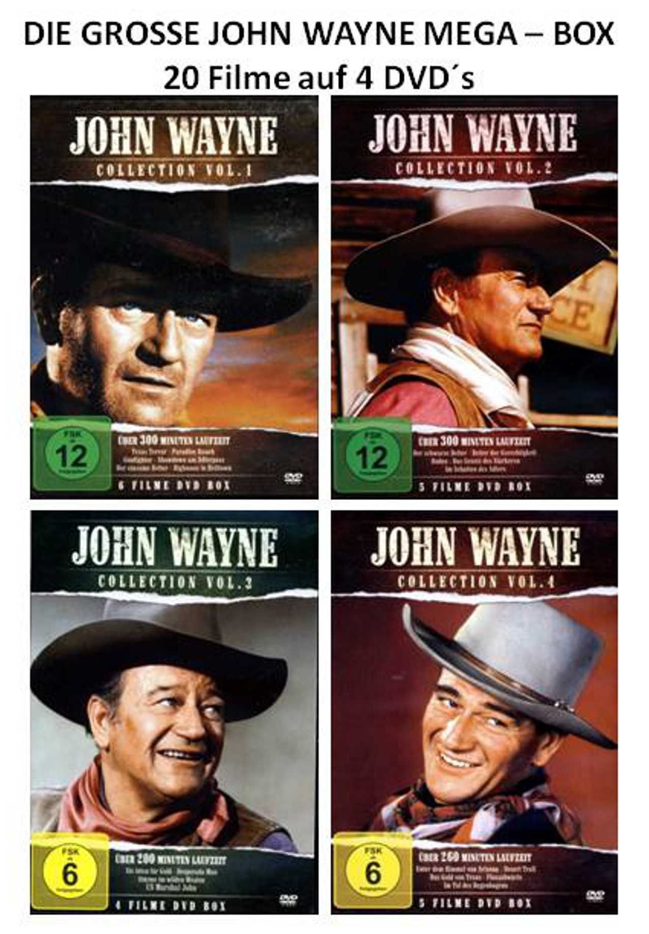 Die große John Wayne Mega-Box ( 20 Filme auf 4 DVDs )