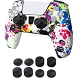 Newseego PS5 Cover Skin Case Compatible with Sony Playstation 5 DualSense Controller, Grepp Silikonhudfodral Anti-halkskydd A