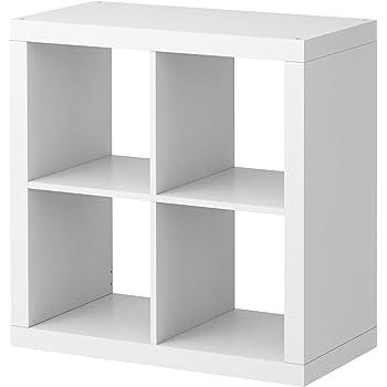 Ikea Kallax Étagère rectangulaire à 4 compartiments, Bois dense, blanc, 42x147 cm: Amazon.fr ...