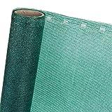 HaGa® Zaunblende Sichtblende Schattiernetz 85% in 1m Br. grün (Meterware)