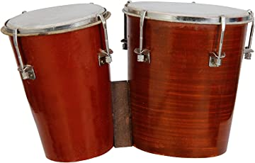 Rose Musicals Wooden Bongo, Brown Colour