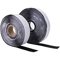 Smukdoo Adhesive Hook and Loop Tape,5 Meters Self Adhesive Sticky Fastening Tape for Home or Office,Black,20mm x 5m