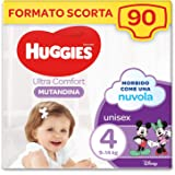 Huggies Ultra Comfort Pannolino Mutandina, Taglia 4/9-14 Kg, Confezione da 90 Pannolini