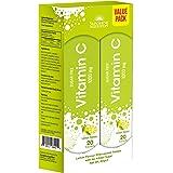 SUNSHINE NUTRITION Vitamin C 1000Mg Effervescent Lemon, 2 x 20's Pack