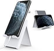 Lamicall Handy Ständer, Handy Halterung Verstellbare - Faltbarer Halterung, Halter für Phone 11 Pro, Xs Max, Xs, XR, X, 8, 7, 6 Plus, SE, 5, Samsung S10 S9 S8 S7, Huawei, andere Smartphone - Weiß