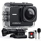 COOAU Action Cam 4K Nativo 60fps 20MP, con WiFi Zoom 8X Nuova Stabilizzatore Elettronica, Custodia Subacquea Impermeabile 40m
