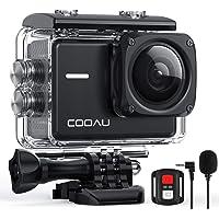 COOAU Action Cam 4K Nativo 60fps 20MP, con WiFi Zoom 8X Nuova Stabilizzatore Elettronica, Custodia Subacquea…