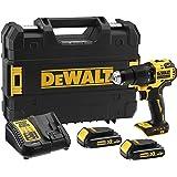 DeWalt 18V 13mm Hammer brushless Compact Cordless 1.5AH, Yellow/Black, DCD709S2T