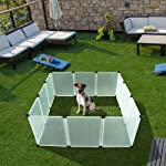 EXPAWLORER Pet Playpen for Puppy - Plastic Indoor Yard Fence Durable and Large Space for Small Animals with 12 pcs...