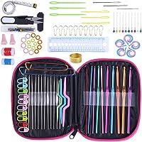 Soleebee Tout-en-Un Top qualité Crochet Ensemble de Tricot Outils 100 pièces Accessoires pour Aiguilles à Tricoter…
