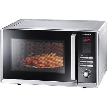 Severin MW 9675 Microonde, Forno Ventilato e Grill, Maniglia Professionale, 23 Litri