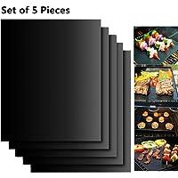 EXTSUD BBQ Grillmatten, 5er Set BBQ Antihaft Grill-und Backmatte Wiederverwendbar PFOA-Frei - Toll über Kohle, Gas und…
