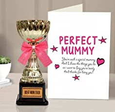 TIED RIBBONS Mothers Day Gifts | Gift for Mother | Gift for mom | Gifts for Mother | Golden Trophy with Mothers Day Special Greeting Card