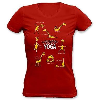 Lady Shirt Mit Urkunde - Giraffe - Power Yoga - Lustiges Girlie ...