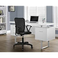 TIMBER CHEESE Ergonomic Office Desk Chair Warranty Product (Height Adjustable) (Standard, Black)