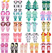 Animal Hair Clips, IKOCO 21 Pairs Snap Hair Clips Animal Pattern Barrettes, Cartoon Design Snap Hair Barrettes for Toddler G