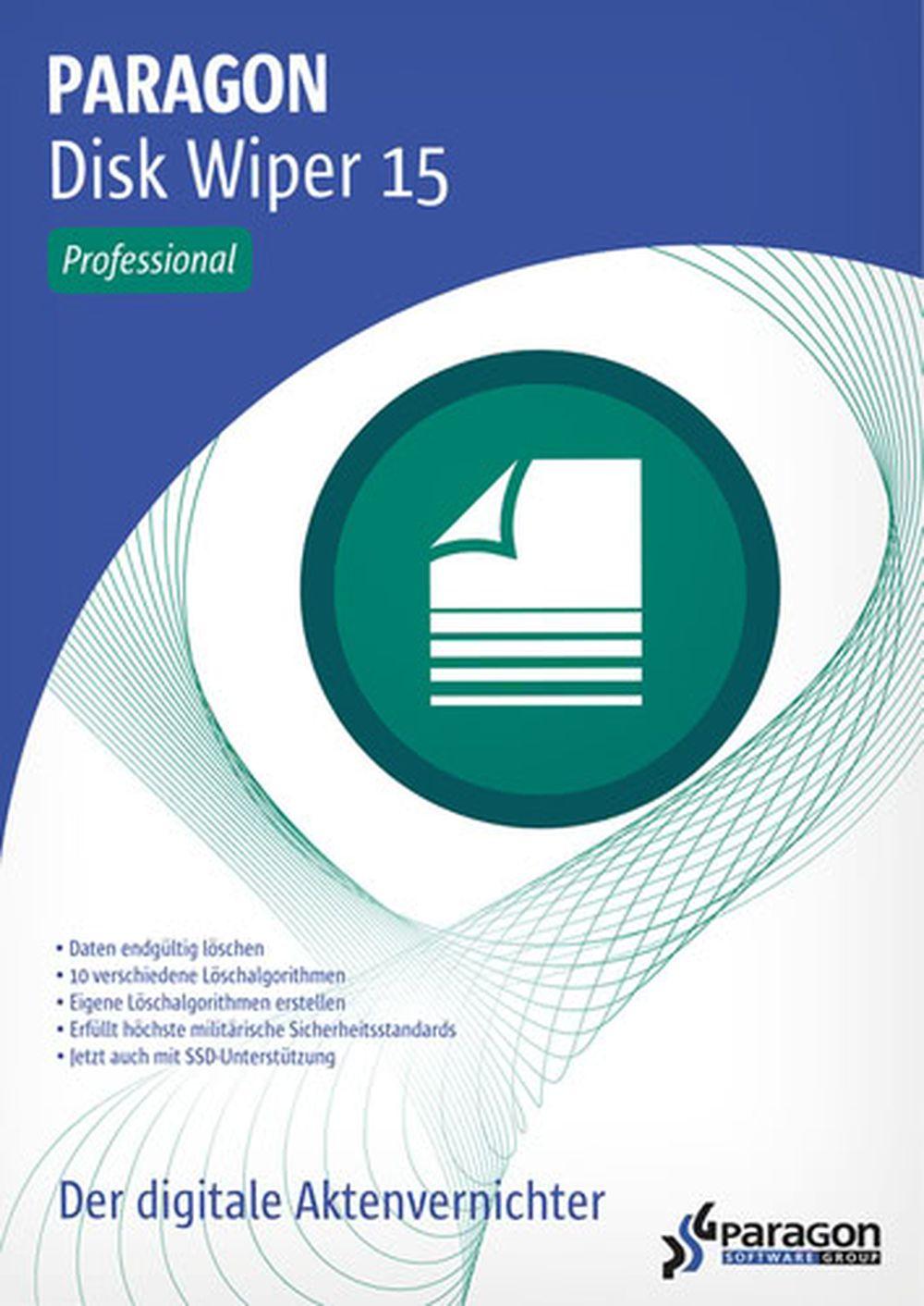 Disk Wiper 15 Professional - Nach höchsten militärischen und behördlichen Sicherheitsstandards Daten endgültig löschen! Windows 10, 8.1, 8, 7, Vista, XP - Löschen Festplatte