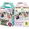 instax 16404193 - Colorfilm Mini Star WW 1, película fotográfica instantánea (10 Hojas per Pack), Estrellas + Mini Stained Gl