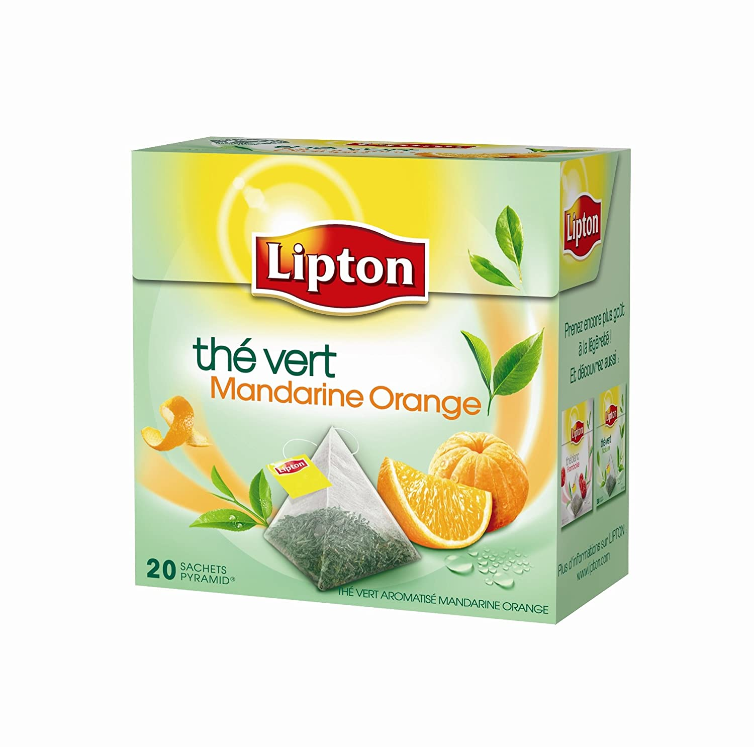 Bien connu Lipton Thé Vert Mandarine Orange 20 Sachets 36g - Lot de 3: Amazon  JZ72