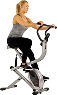 Sunny Health & Fitness Unisex Adult SF-B2620 Dual Action Rider Bike - Silver, One Size