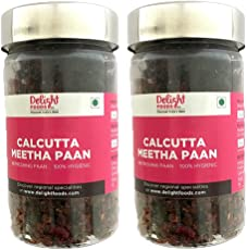 Delight Foods Calcutta Meetha Paan, Weight 200gm (Set of 2 * 100gm) (Gold and Red)