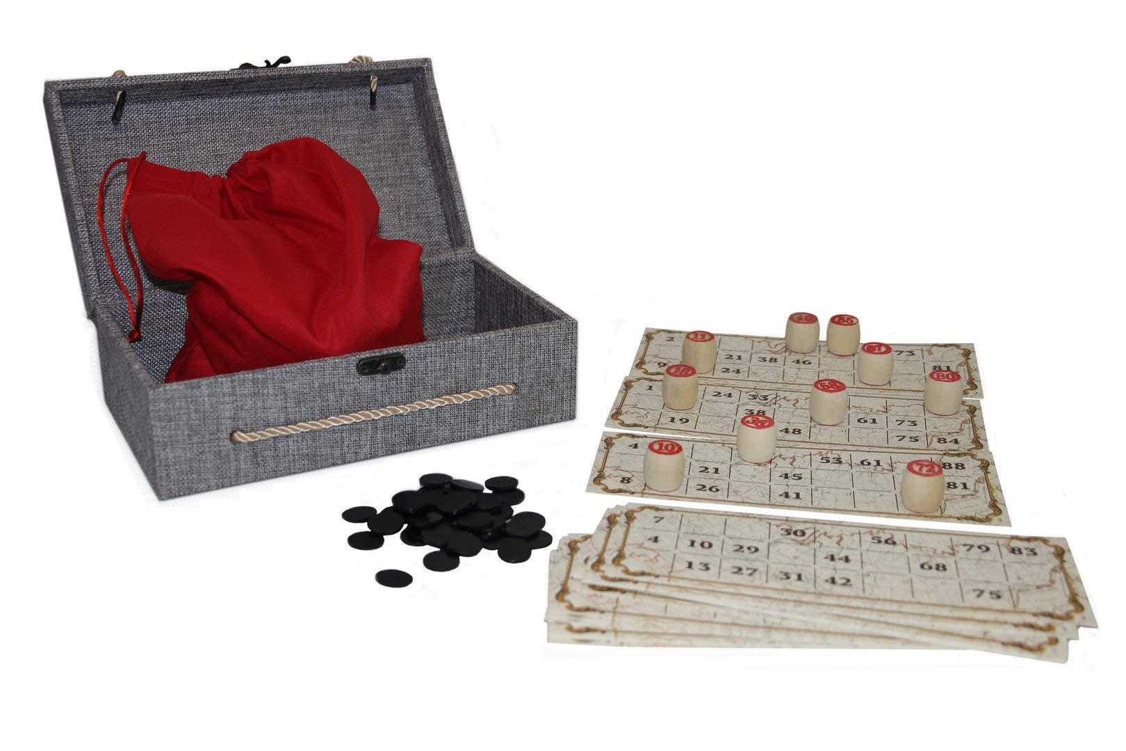 rukauf-Lottospiel-Russisches-Lotto-Loto-Spielset-im-Stoff-Holzkasten-mit-Holzfiguren-Bingospiel-Familienspiel